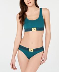 Calvin Klein Monogram Bralette QF4918 & Thong QF4921