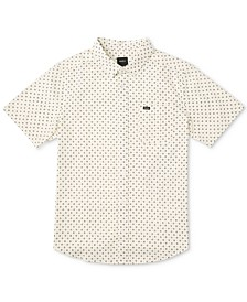 RVCA Men's Gauze Dot-Print Shirt