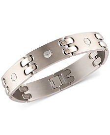 Men's Mechanical-Style Link Bracelet in Titanium