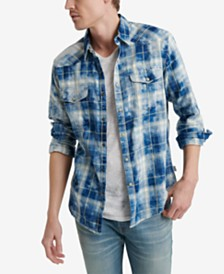 Lucky Brand Men's Regular-Fit Plaid Western Shirt
