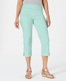 JM Collection Metallic-Detail Capri, Created for Macy's