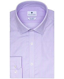 Men's Ultimate Slim-Fit Stretch Moisture-Wicking Non-Iron Square Dobby Dress Shirt, Created for Macy's