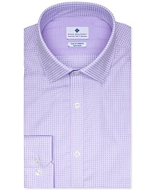 Ryan Seacrest Distinction™ Men's Ultimate Slim-Fit Stretch Moisture-Wicking Non-Iron Square Dobby Dress Shirt, Created for Macy's