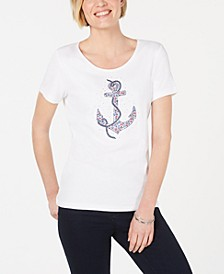 Embellished Anchor-Graphic Top, Created for Macy's