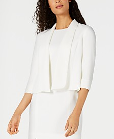 Kasper Petite Textured Open-Front Jacket