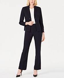 Peak-Collar Two-Button Pantsuit