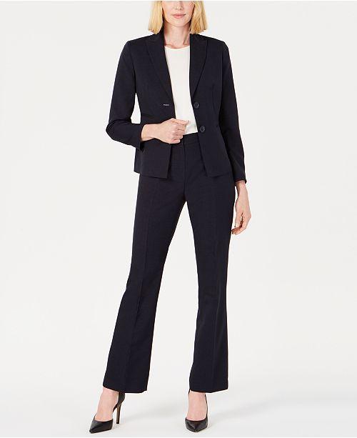 Le Suit Peak-Collar Two-Button Pantsuit