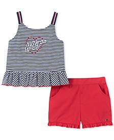 Baby Girls 2-Pc. Tank Top & Shorts Set