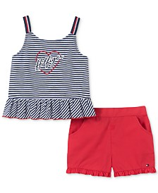 Tommy Hilfiger Baby Girls 2-Pc. Tank Top & Shorts Set
