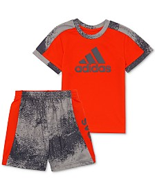 adidas Baby Boys 2-Pc. Colorblocked T-Shirt & Shorts Set