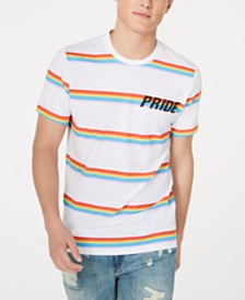 American Rag Men's Striped Pride T-Shirt, Created for Macy's