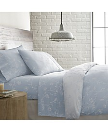 """Boutique Chic 22"""" Extra deep, Pocket Sweetbrier Cotton Sheet Set, Full"""