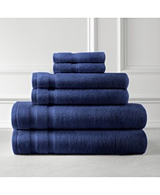 Southshore Fine Linens Premium Quality Classic Solid Colored 6 Piece Towel Set, Towel Set