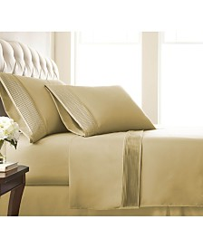 "Southshore Fine Linens Classy Pleated 21"" Extra deep, Pocket Sheet Set, King"