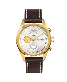 JBW Men's Woodall Diamond (1/20 ct.t.w.) 18k Gold Plated Stainless Steel Watch