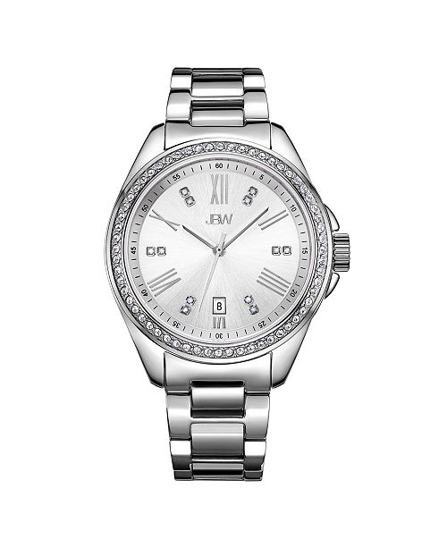 Jbw Women's Capri Diamond (1/8 ct.t.w.) Stainless Steel Watch