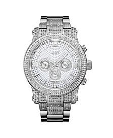 Men's Lynx Diamond (3/4 ct.t.w.) Stainless Steel Watch
