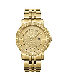 Men's Vault Diamond (1/4 ct.t.w.) 18k Gold Plated Stainless Steel Watch