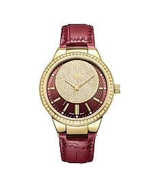 JBW Women's Camille Diamond (1/6 ct.t.w.) 18k Gold Plated Stainless Steel Watch