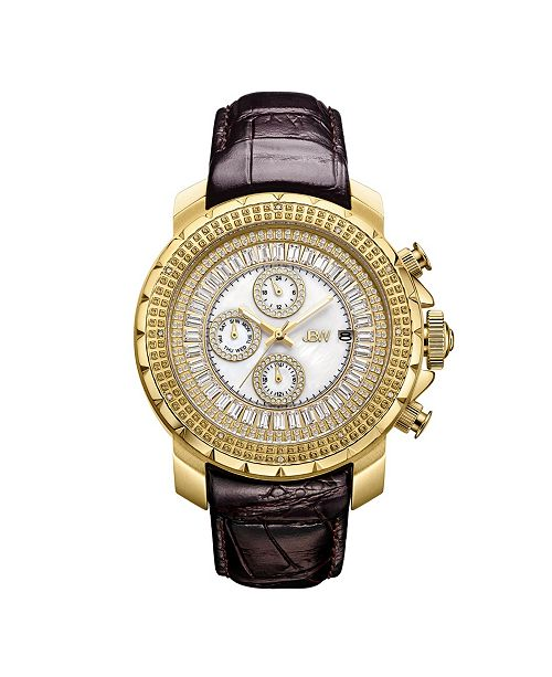 Jbw Men's Titus Diamond (1/8 ct.t.w.) 18k Gold Plated Stainless Steel Watch