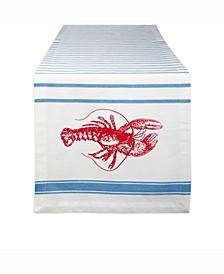"""Lobster Stripe Table Runner 14"""" X 72"""""""