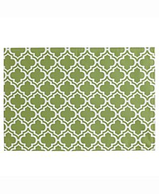 Lattice Print Outdoor Placemat Set of 6