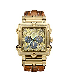 Men's Phantom Diamond (1 ct.t.w.) 18k Gold Plated Stainless Steel Watch