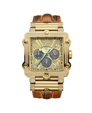 Jbw Men's Phantom Diamond (1 ct.t.w.) 18k Gold Plated Stainless Steel Watch