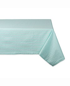 "Aqua Seersucker Table cloth 60"" X 84"""