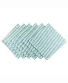 Aqua Seersucker Napkin Set of 6