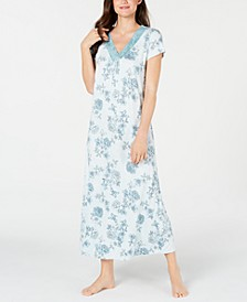Super Soft Knit Floral-Print Nightgown, Created for Macy's