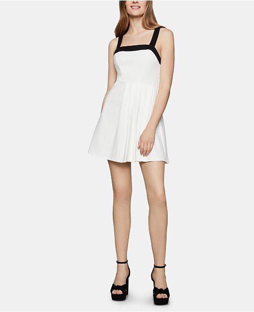 BCBGeneration Contrast-Trim Fit & Flare Dress