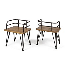 Zion Outdoor Club Chairs (Set of 2)
