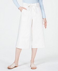 Patch-Pocket Culotte Jeans