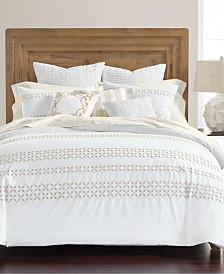 CLOSEOUT! Martha Stewart Collection Eyelet Stripe 8-Pc. Comforter Sets, Created for Macy's