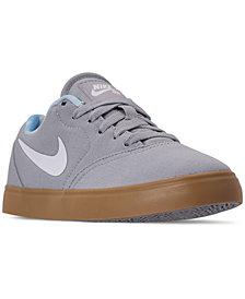 Nike Boys' SB Check Premium Print Skateboarding Sneakers from Finish Line