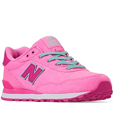 8248e7e45bd7d New Balance Girls' 515 Spring Canvas Casual Sneakers from Finish Line