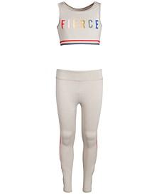 Big Girls Sport Bra & Crisscross Leggings, Created for Macy's