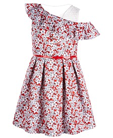 Beautees Big Girls Plus Ruffle Skater Dress