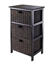 Omaha Storage Rack with 3 Foldable Baskets