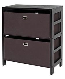 Torino 3-Pc Set Storage Shelf with Fabric Baskets