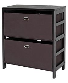 Winsome Torino 3-Pc Set Storage Shelf with Fabric Baskets