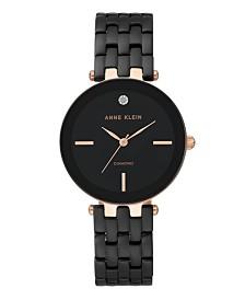 Anne Klein Glossy Dial with A Genuine Diamond Watch