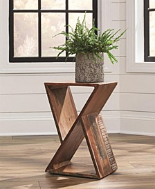 Midland Rectangular Accent Table with Cavities