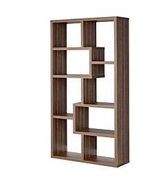 Joliet 8-Shelf Staggered Bookcase