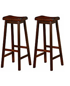"Braylin Wooden 24"" Counter Stools (Set of 2)"