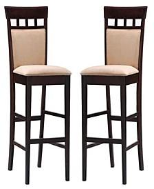 "Alton 30"" Upholstered Panel Back Bar Stools (Set of 2)"