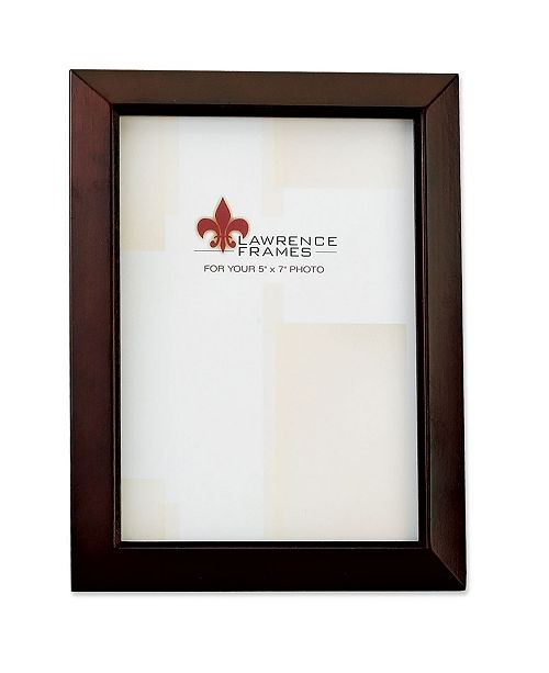 """Lawrence Frames Walnut Wood Picture Frame - Estero Collection - 5"""" x 7"""""""