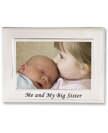 "Lawrence Frames Big Sister Silver Plated Picture Frame - Me and My Big Sister Design - 6"" x 4"""
