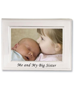 """Lawrence Frames Big Sister Silver Plated Picture Frame - Me and My Big Sister Design - 6"""" x 4"""""""